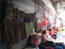 Thai seller clothing on the street. Royalty Free Stock Photo