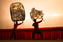 Thai shadow play puppet is on display at Wat Khanon Royalty Free Stock Photos