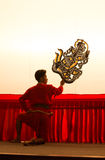 Thai shadow play puppet is on display at Wat Khanon Stock Photography