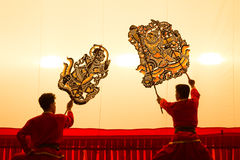 Thai shadow play puppet is on display at Wat Khanon Royalty Free Stock Image