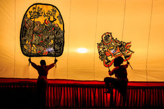 Thai shadow puppet Royalty Free Stock Image