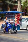 Thai shoe salesman. Stock Images