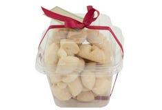 Thai Shortbread Cookies in plastic box Stock Photo