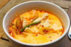 Thai shrimp Curry. Tom Yum Kung , one of the most famous Thai cuisine Stock Images