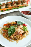Thai Shrimp with Noodles Meal Stock Photos