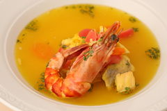 Thai Shrimp Soup Stock Image