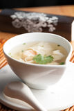 Thai Shrimp Wonton Soup Royalty Free Stock Photography