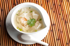 Thai Shrimp Wonton Soup Stock Photos