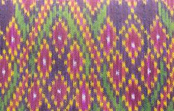 Thai siam fabric silk Full color pattern. Texture royalty free stock images