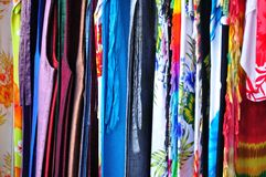 Thai silk Royalty Free Stock Photo