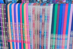 Thai silk. Royalty Free Stock Photo