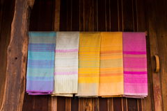 Thai silk Stock Photos
