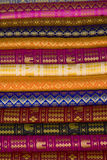 Thai Silk. Layered for sale in the market Royalty Free Stock Photography