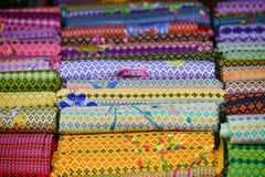 thai silk Arkivfoto