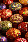 Thai Silk box. Thai Silk jewel box displayed in the night market stock image