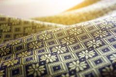 Thai silk cloth handmade for background. Thailand Royalty Free Stock Photo