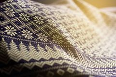 Thai silk cloth handmaded for background. Thailand. Royalty Free Stock Photo