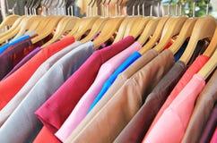 Thai silk clothes Stock Photos