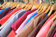Thai silk clothes Stock Photo