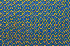 Thai silk fabric pattern Royalty Free Stock Image