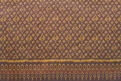 Thai silk fabric pattern Stock Photos