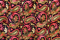 Thai silk fabric pattern background Stock Images