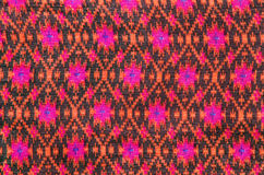 Thai silk fabric pattern background Royalty Free Stock Photos