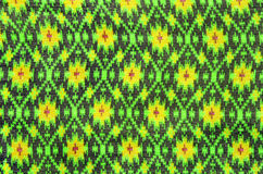 Thai silk fabric pattern background Stock Photo