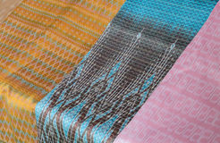 Thai silk fabric Stock Images