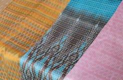 Thai silk fabric Stock Images