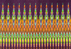 Thai silk fabric pattern background. Traditional hand-woven colorful batik cloth fabric in thai pattern Royalty Free Stock Photos