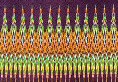 Thai silk fabric pattern background Royalty Free Stock Photos