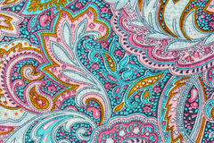 Thai silk fabric pattern Royalty Free Stock Images