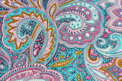 Thai silk fabric pattern Stock Image