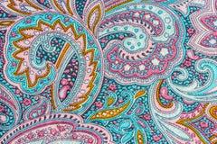 Thai silk fabric pattern Stock Image