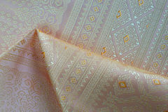 Thai silk fabric pattern Stock Photography