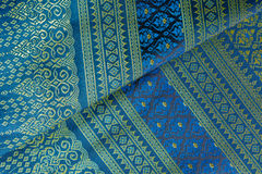 Thai silk fabric pattern Royalty Free Stock Photos