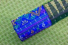 Thai silk fabric texture Royalty Free Stock Photography