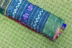 Thai silk fabric texture Stock Photos