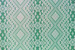 Thai silk green pattern Stock Image