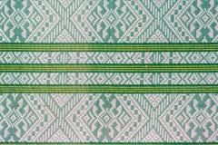Thai silk green pattern Stock Photos