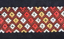 Thai silk ,hand made Royalty Free Stock Photos