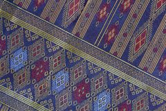 Thai Silk handicraft pattern close up ,Thailand textile style royalty free stock image