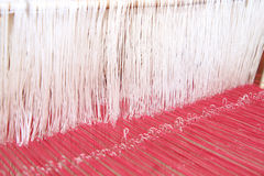 Thai silk on the loom Royalty Free Stock Image