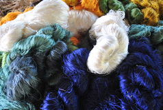 Thai silk thread Stock Image