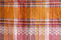 Thai silk pattern fabric Stock Photos