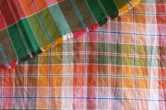 Thai silk pattern fabric Royalty Free Stock Images