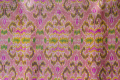 Thai silk background,Pattern of thai hand made Royalty Free Stock Image