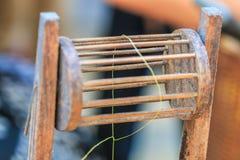 Thai silk production Stock Image
