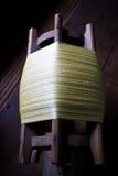 Thai silk roll. At silk craft village in Roi-et, Thailand Royalty Free Stock Image